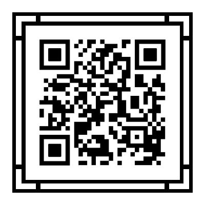 二维码美化模板-黑白样式